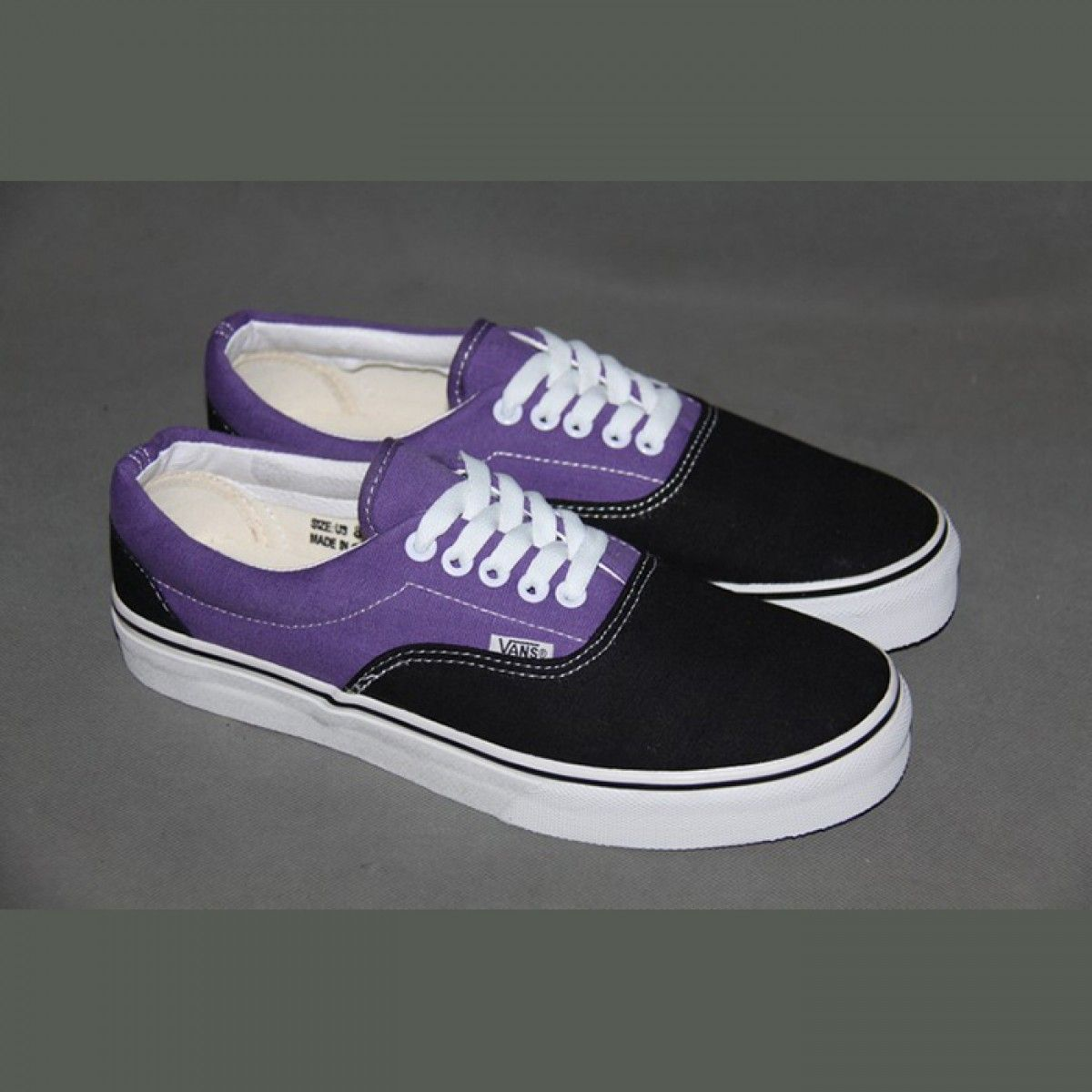 b7a6d9eb4c04 Vans Shoes Black Purple Two-Tone Era Shoes Unisex Classic Canvas ...