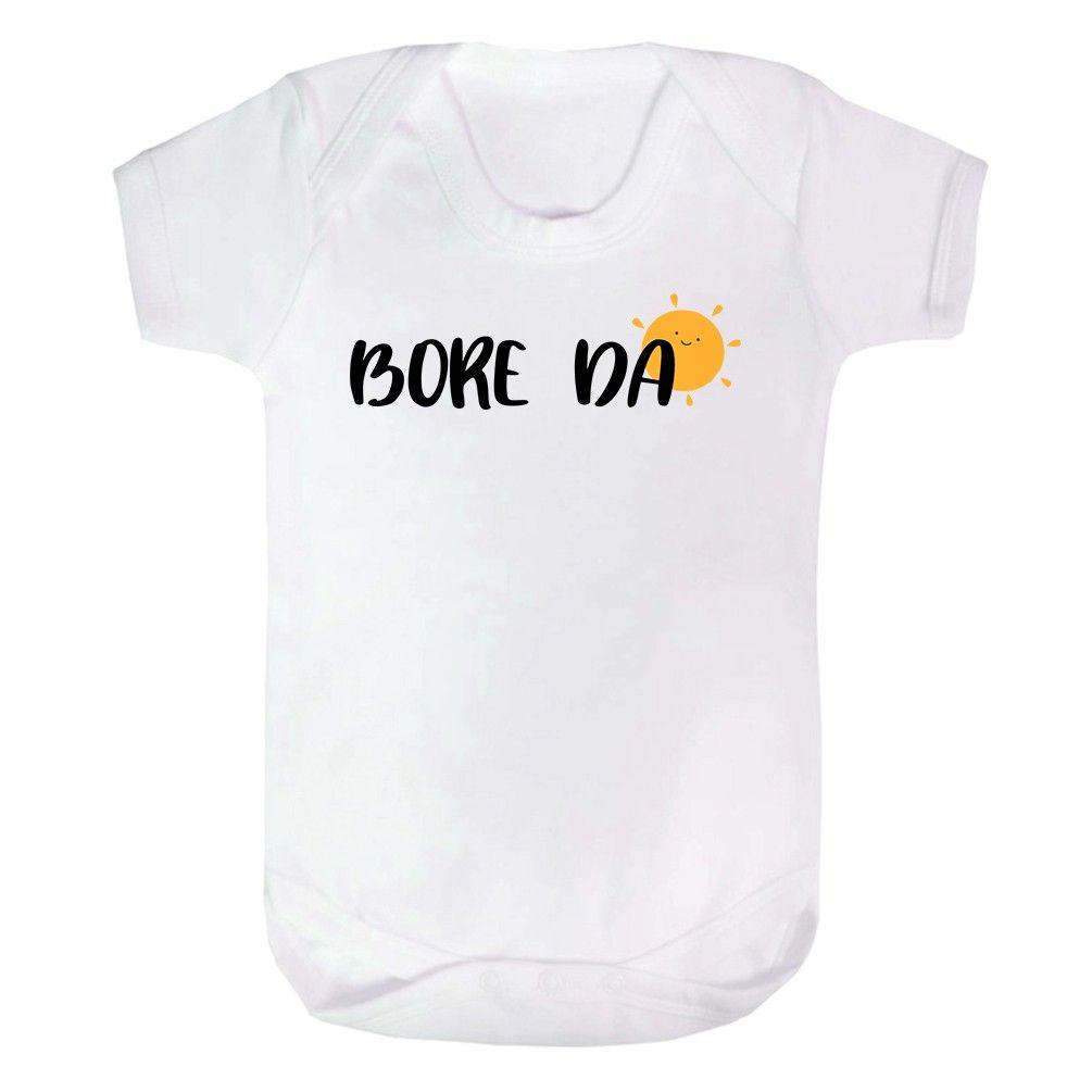 Bore Da baby vest Vest - Cute Good Morning Hello Sun Welsh Wales Gift aa08dcf61