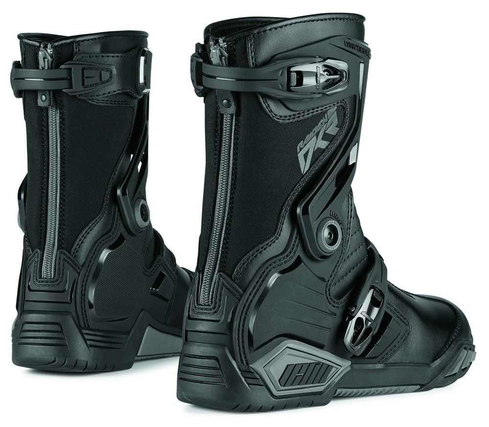 Icon Mens Raiden Dkr Armored Rear Entry Zip Leather