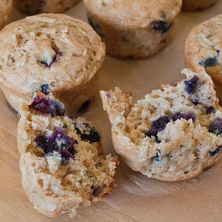 Zucchini Blueberry Muffins | Real Mom KitchenReal Mom Kitchen Sub applesauce for oil