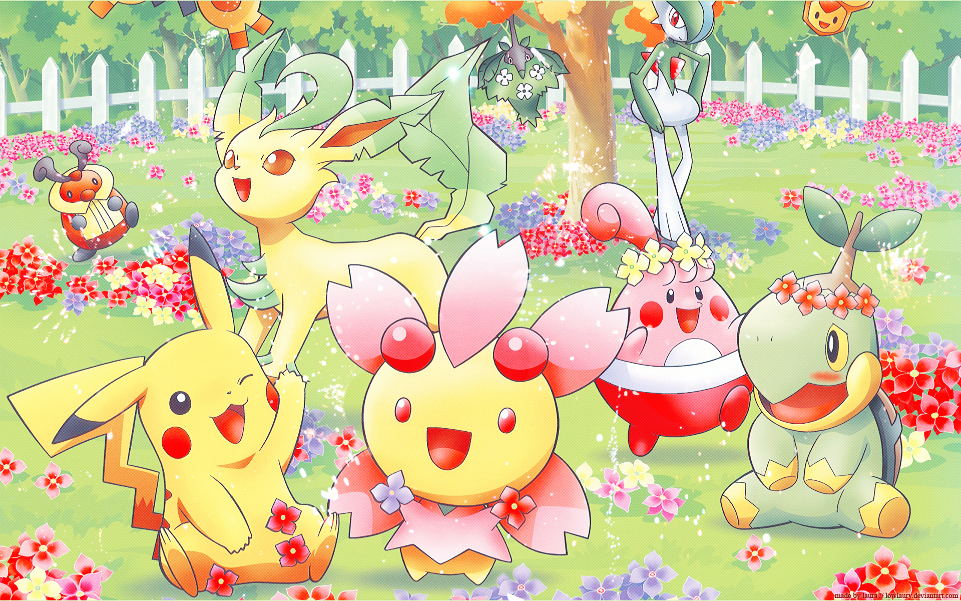 Kawaii Pokemon Desktop Wallpaper Pokemon Spring Hd Wallpaper Background Image 1920x1200 Cute Pokemon Cute Pokemon Wallpaper Pokemon Backgrounds Cute Pokemon