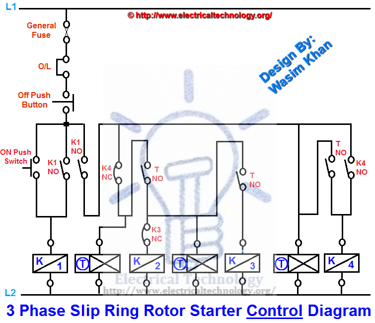 Three Phase Slip Ring Rotor Starter Control Power Control Power Electronic Engineering