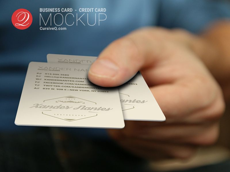Cursive q designs free business card credit card gift card cursive q designs free business card credit card gift card hand mockup photoshop psd template cheaphphosting Image collections