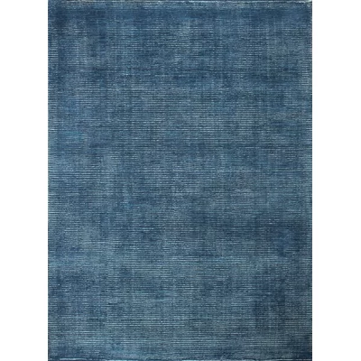 Idella Hand Knotted Wool Blue Area Rug With Images Area Rugs