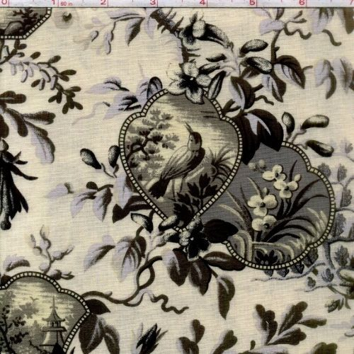 Cotton Quilt Fabric Wilmington Birds of a Feather Toile Cream Gray ... : toile quilting fabric - Adamdwight.com