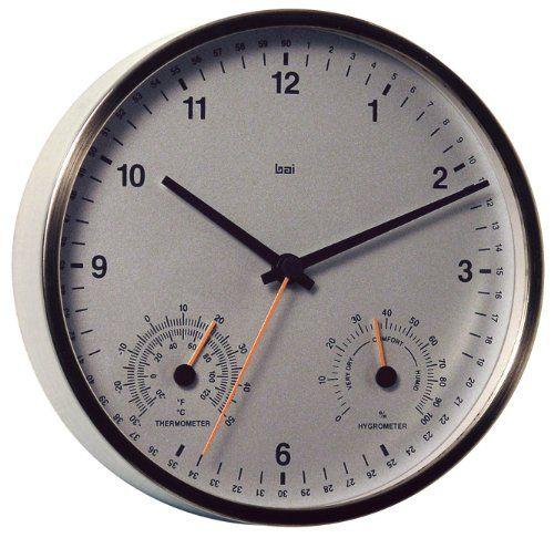Bai Designer Weather Station Wall Clock White 37 08 Svpply