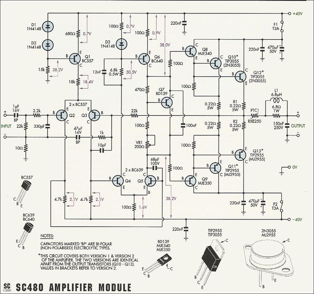2n Mj Amplifier Circuit
