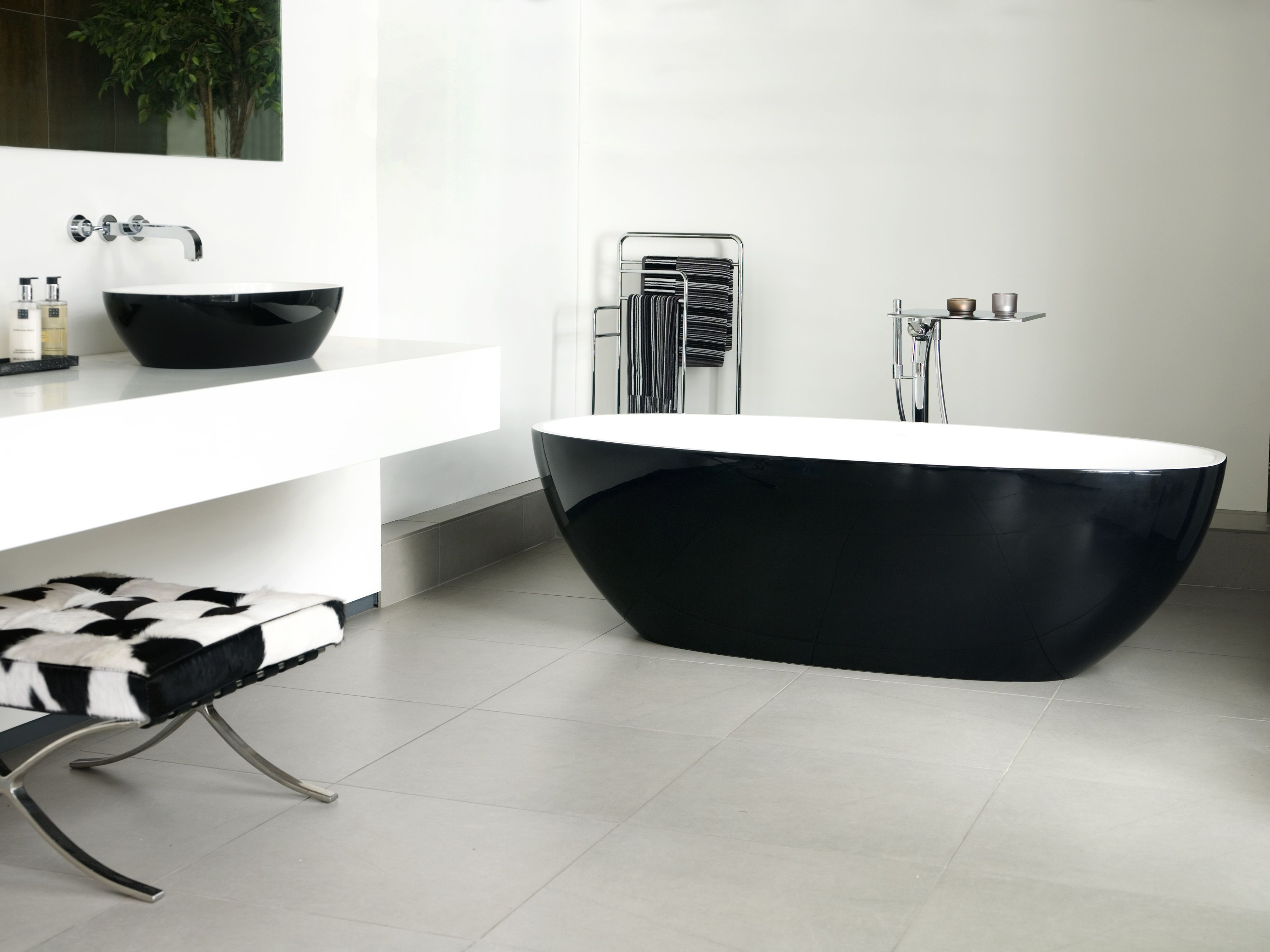 Black Modern Free Standing Tub#bathroom #design  Bathrooms Adorable Free Bathroom Designer Decorating Design