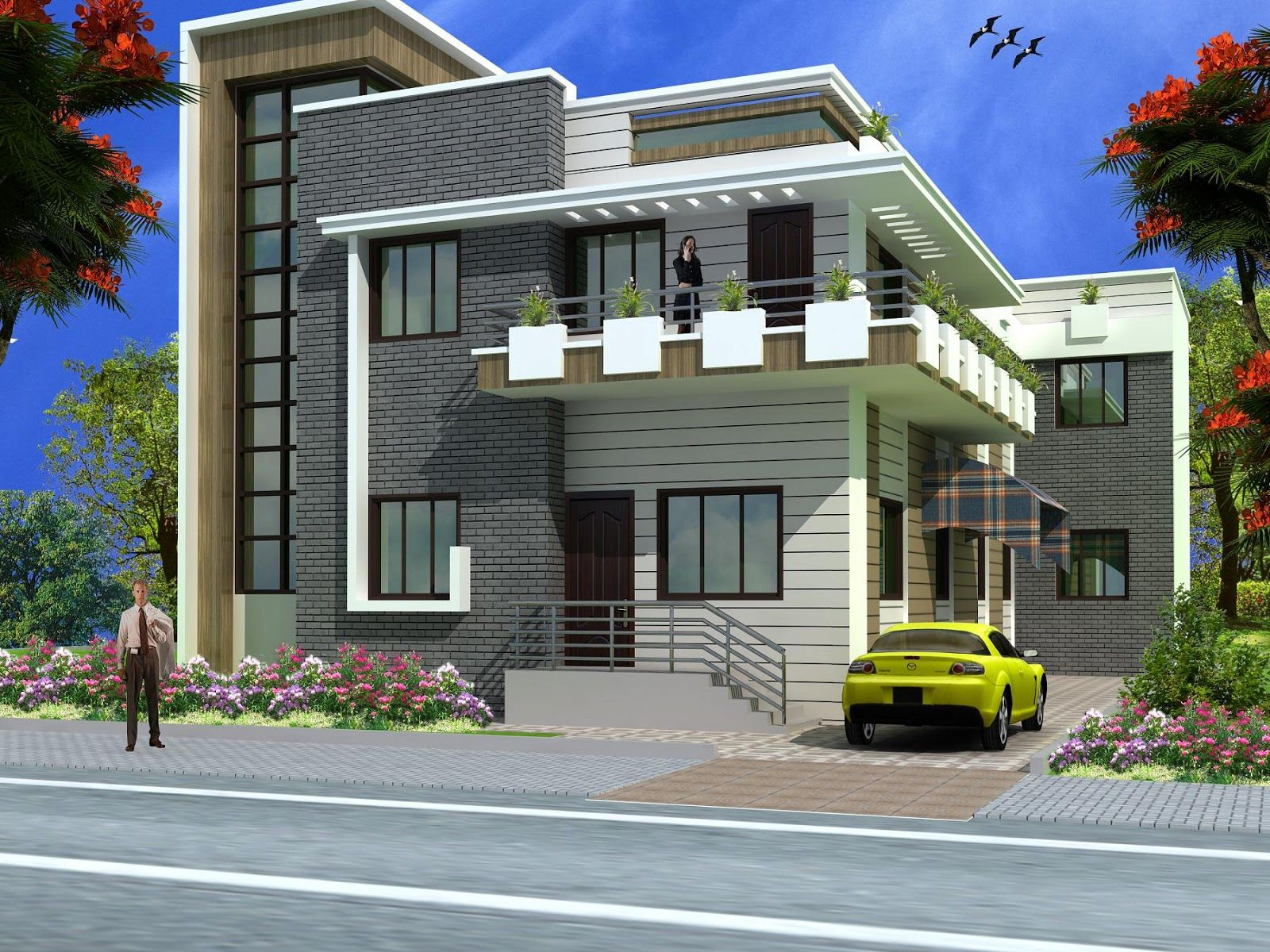 Architectural designs of indian houses pics pinterest for Contemporary home designs india