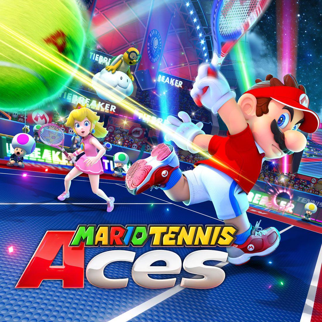 Box Art From Mario Tennis Aces Illustration Artwork Gaming Videogames Mario Super Mario Bros Mario Party Games