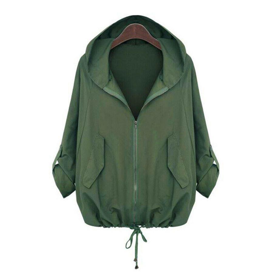 Fashion Women Casual Sport Zipper Hooded Matching Pocket Sweatshirt Jacket Coat [ 900 x 900 Pixel ]