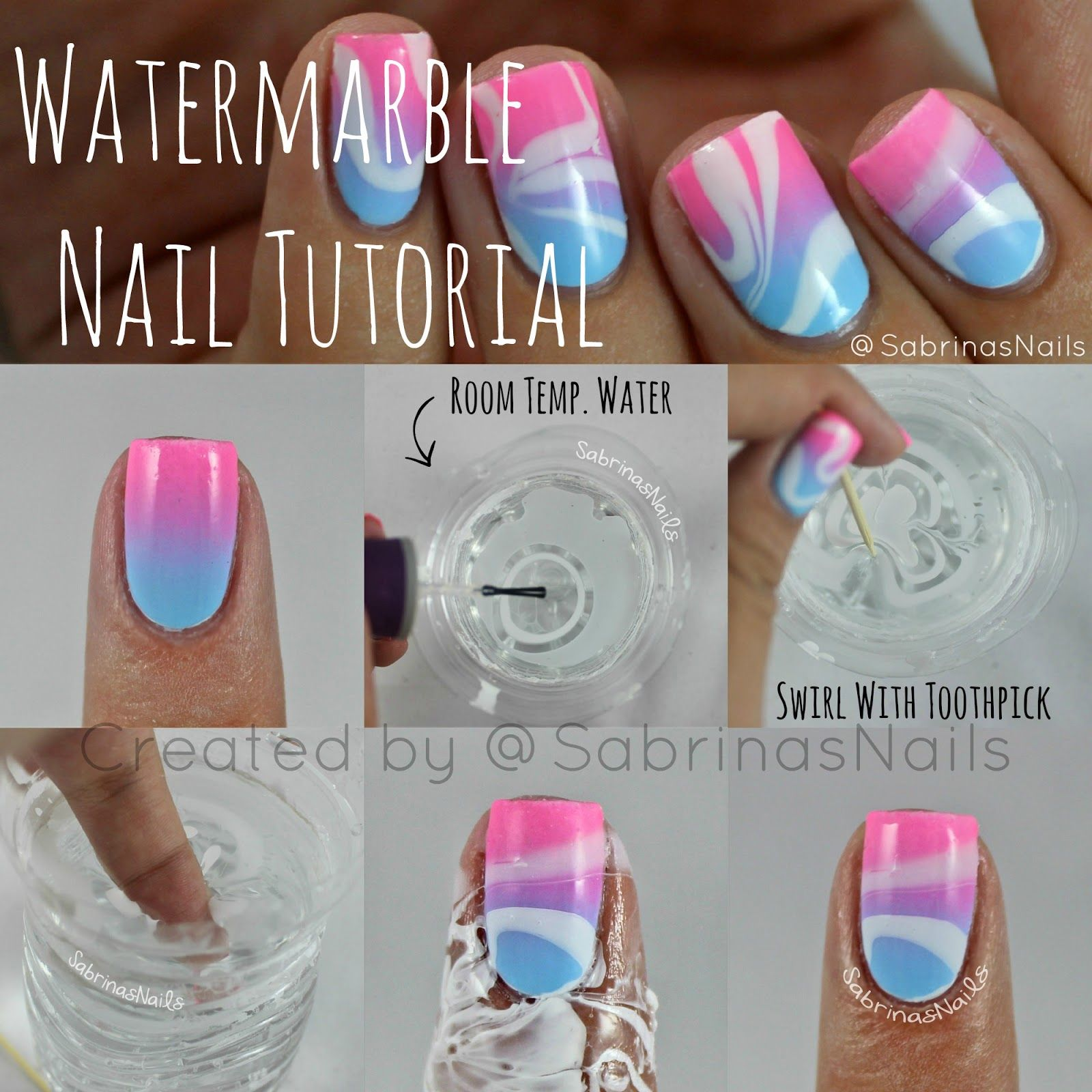 Sabrinas Nails: Watermarble Nail Tutorial | nails | Pinterest ...