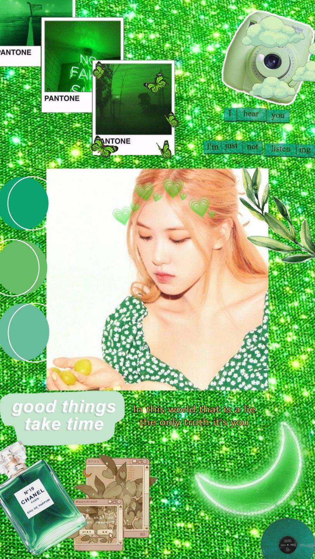 Rose Aesthetic Wallpaper Green Aesthetic Green Theme Rose Wallpaper