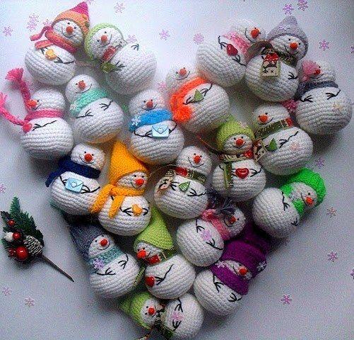 Amigurumi crochet snowman pattern | 미니 코바늘 | Pinterest ...