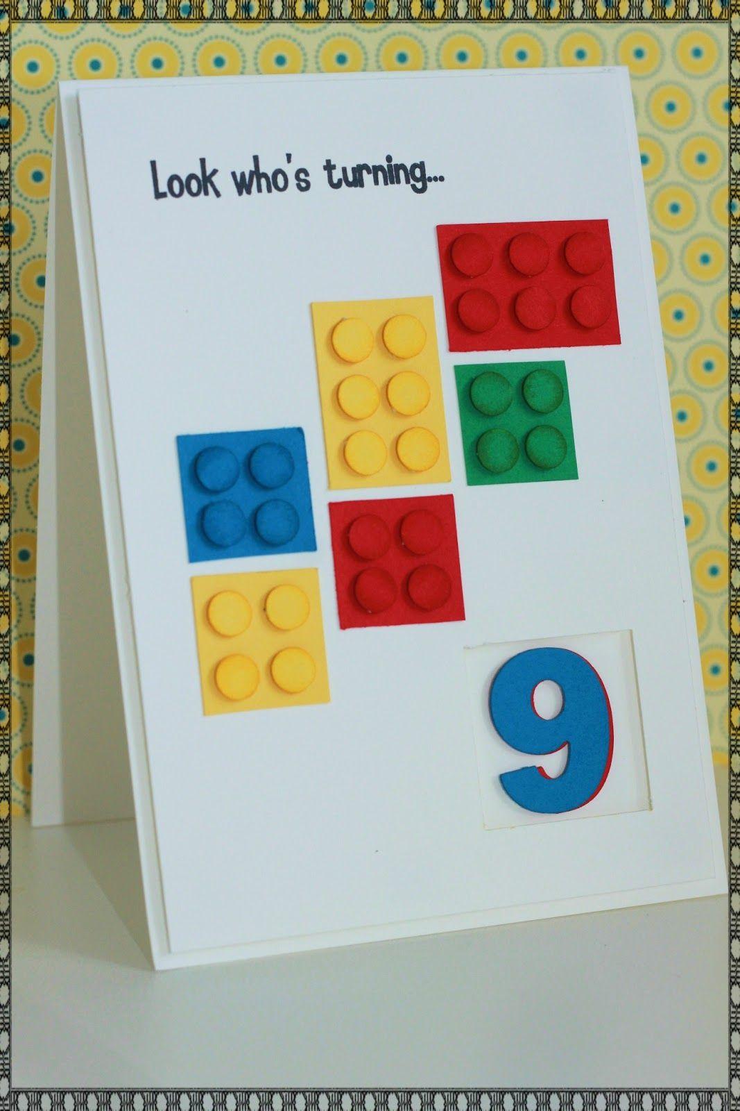 Show Me The Love Lego Card Boys 9th Birthday Cards