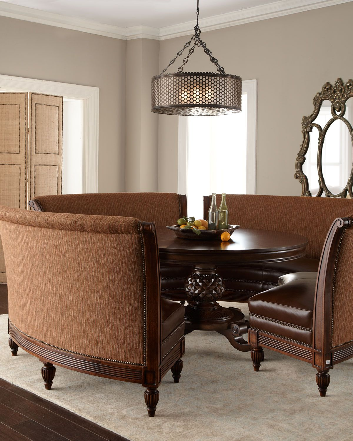 Massoud marie dining table hudson banquette for Dining room banquette