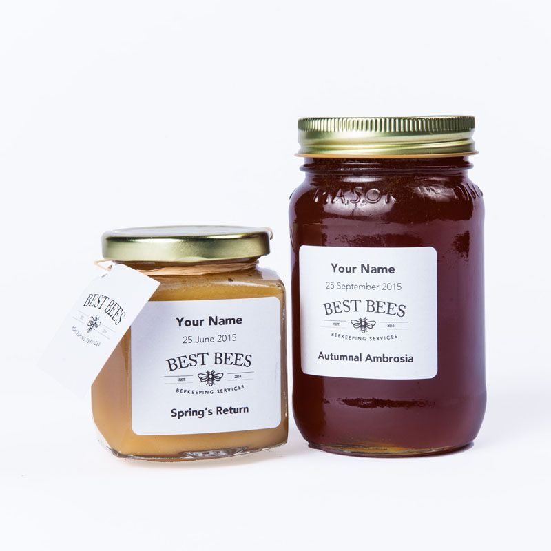 Custom Label Honey Jars - The Best Bees Company