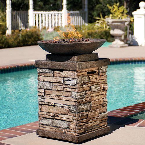 Pin By Geri Hardin On Porch Ideas Gas Firepit Fire Bowls Backyard