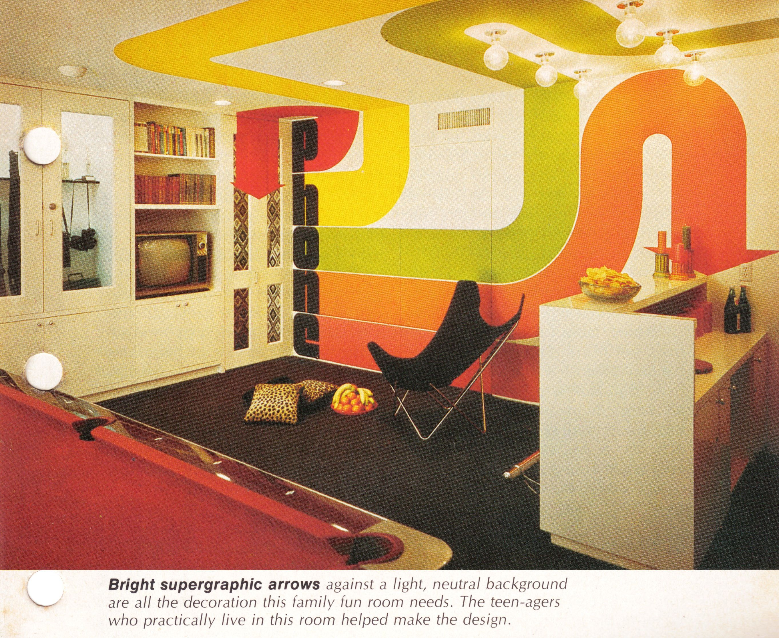 teen hangout idea from the better homes gardens decorating book 1975 - Better Homes And Gardens Interior Designer