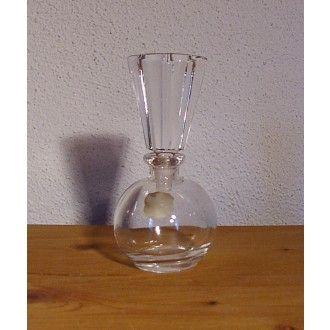 Flacon à parfum cristal au plomb avec bouchon en éventail