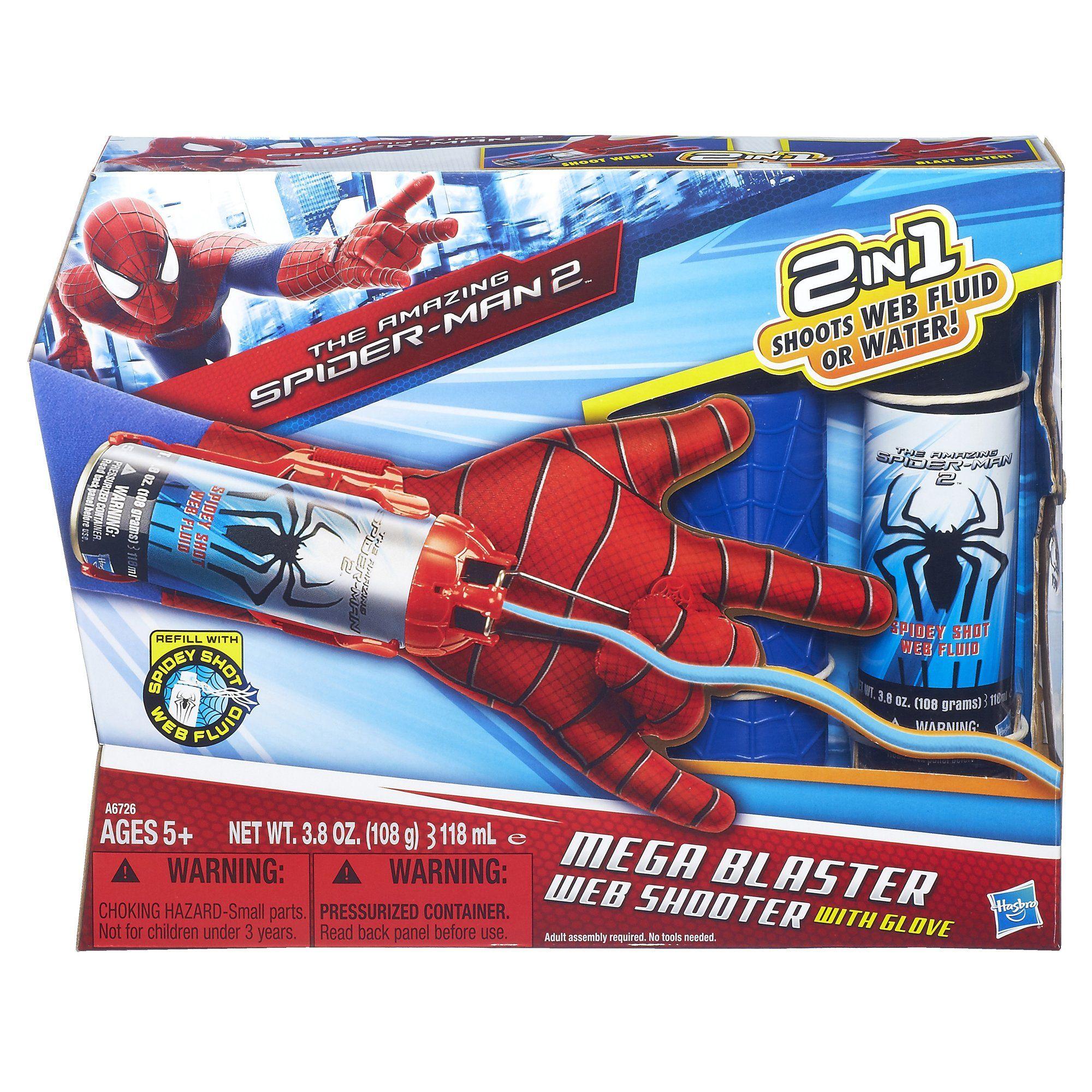 Amazoncom Marvel The Amazing Spider Man 2 Mega Blaster Web Shooter