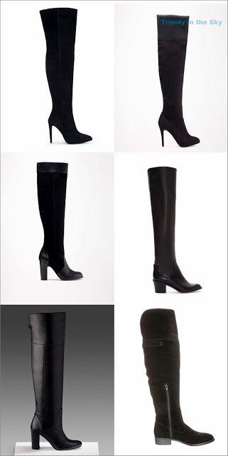 01014840152ca Botas negras XL  1. Botas XL de ante y con tacón 119.00€ Zara. 2 ...