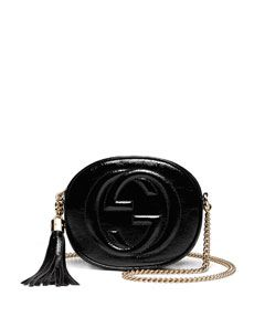 530659cc798 Gucci Soho Patent Leather Mini Chain Bag