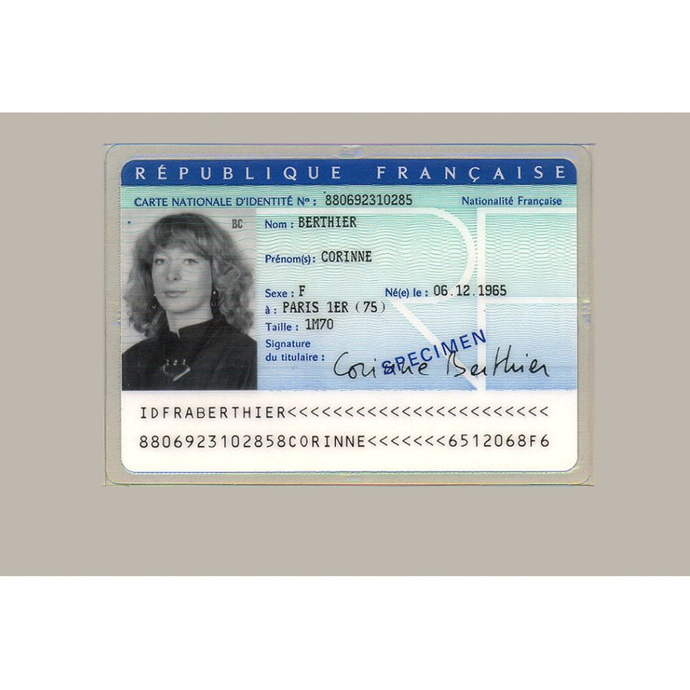 The Amazing Buy French Original Id Card Online Fake National Id Card Of Intended For French Id Card Id Card Template Business Template Business Plan Template
