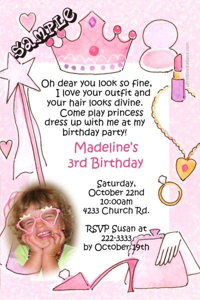 Dress Up Princess Birthday Invitations Get These Invitations - Birthday invitation software free download