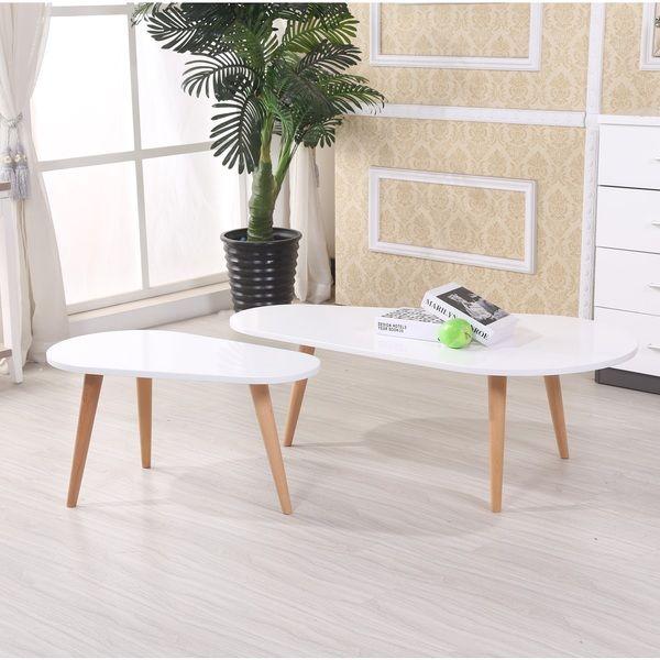 US Pride Furniture Amelia Modern Free Form Wood 2-piece