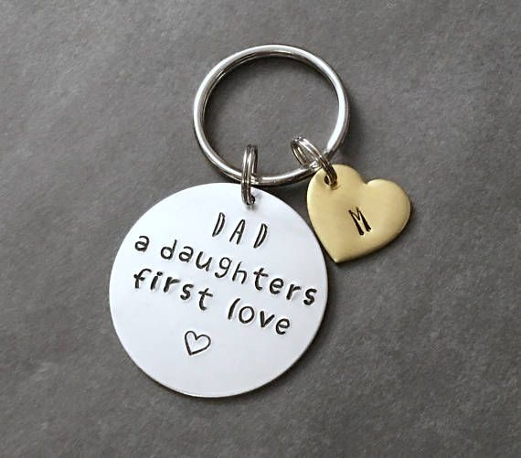 Fathers Day Gift from Daughter - Daughters First Love - Dad Keychain Gift - First Fathers Day - Gifts for Dad - Fathers Day - Gift from kids