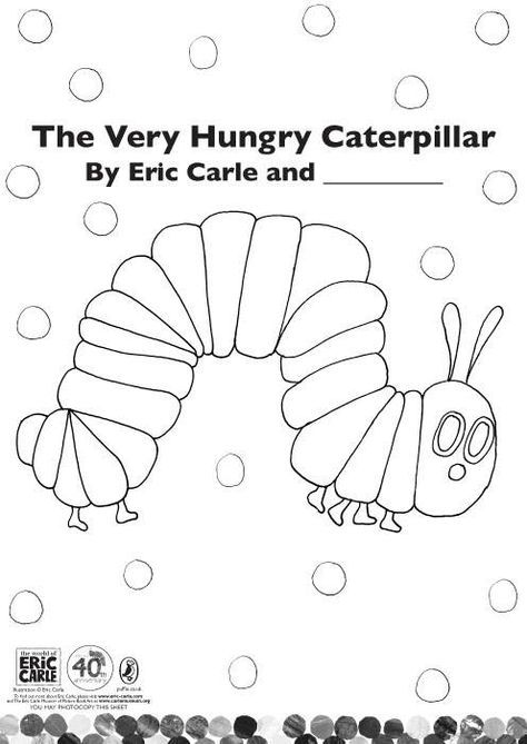 Very Hungry Caterpillar Coloring Page   Zein   Pinterest   Hungry ...