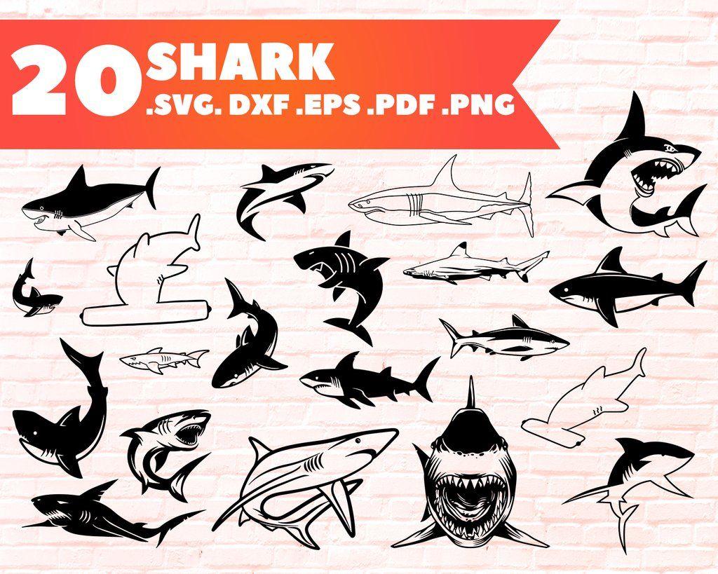 Shark svg, Shark bundle, shark clipart, shark silhouette