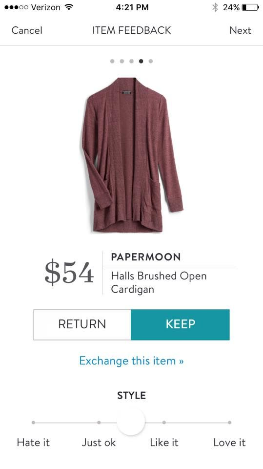 Papermoon Halls Brushed Open Cardigan a friend had this at