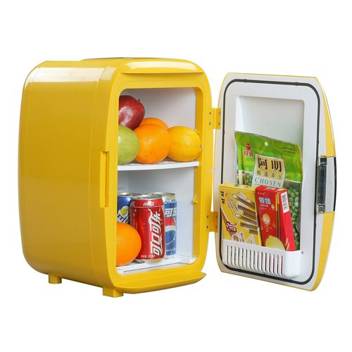 Fancy   WHITE FOX 16L Red/Yellow Mini Refrigerator For Dorm Home Compact  Car Cooler Part 44