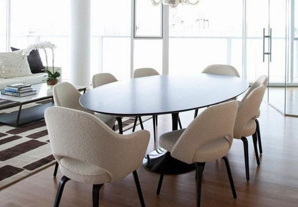 10 Trends In Decorating With Modern Chairs 20 Dining Room Design Ideas Oval Dining Room Table Dining Room Chairs Modern Modern Dining Room Tables