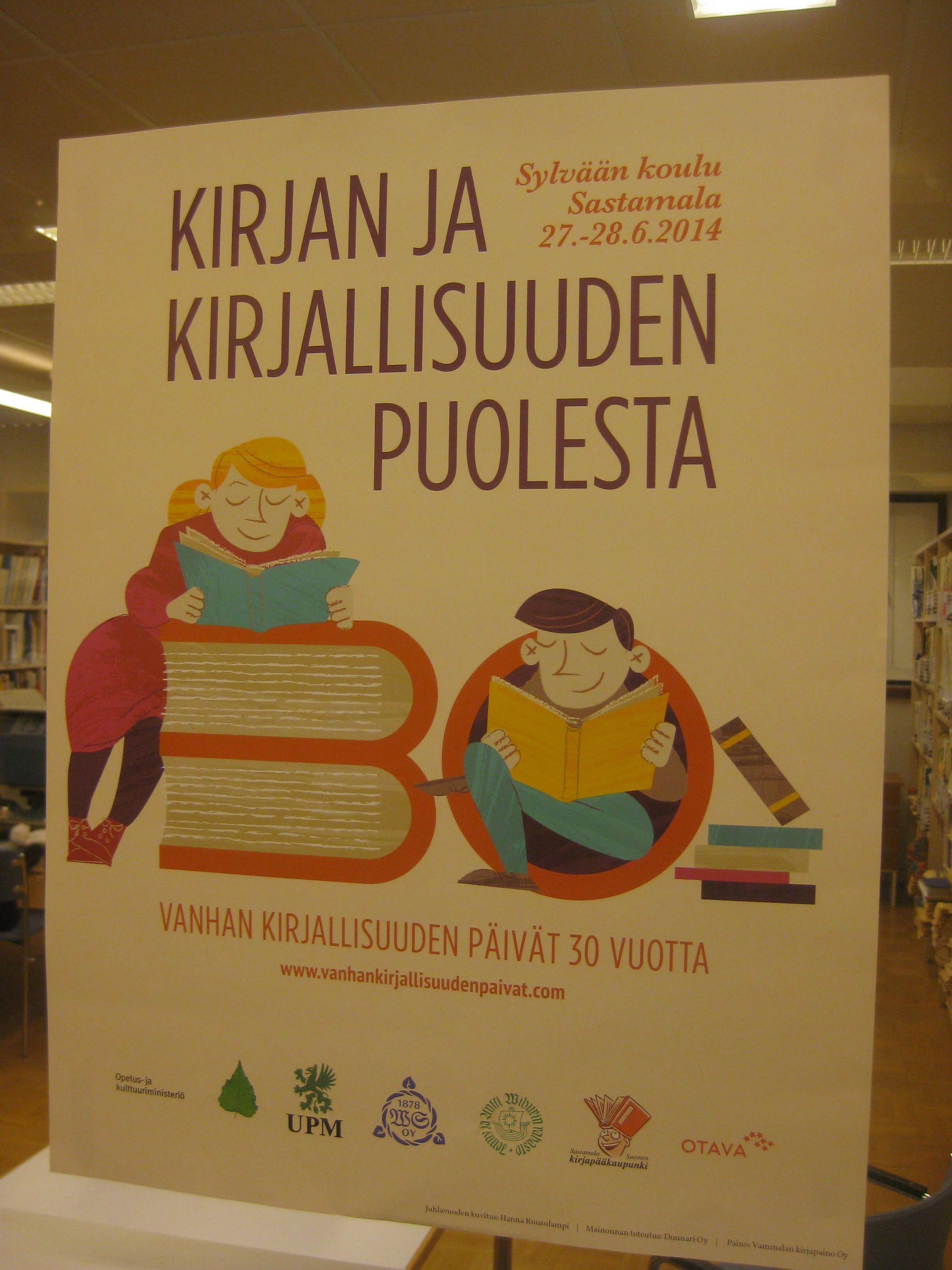 Kuuluisat vanhan kirjallisuuden päivät mainos hieman vanhentunut :) Uutta odotellessa?