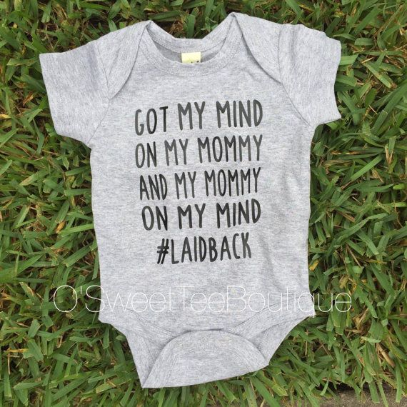 a65a2b2fc Got My Mommy On My Mind/ Baby Boy Onesies/ by oSweetTEEBoutique Funny Baby  Outfits