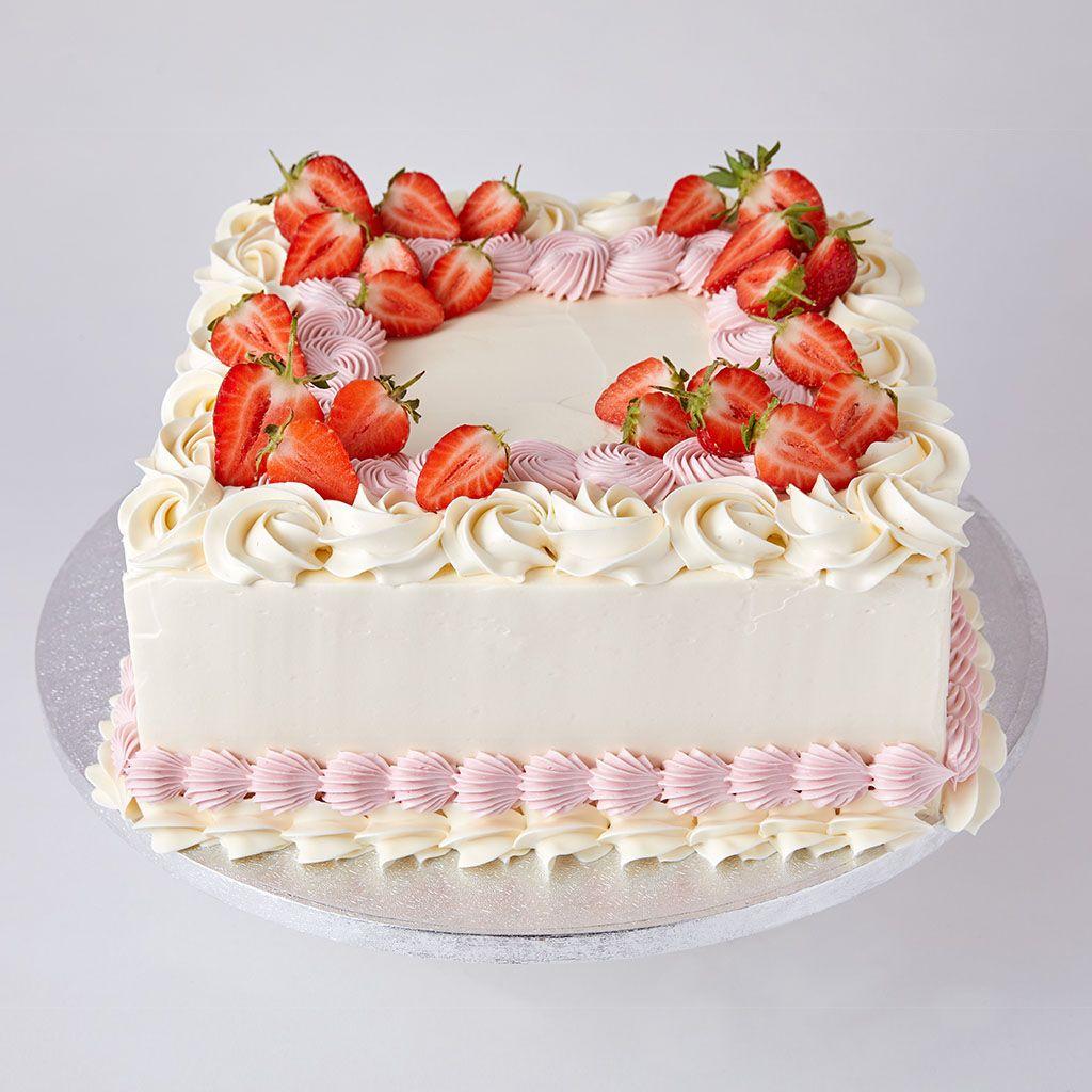 Square Chocolate Birthday Cake • Hand Baked • Lily Vanilli