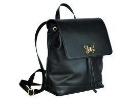 fd9e9d12bd Luxusný moderný ruksak z hovädzej kože v čiernej farbe. Ruksak je vyrobený  z prírodnej hovädzej usne (kože) čiernej farby