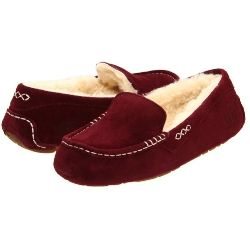 W Ugg - Ansley Silkee suede upper with stitch detail crafted in a moccasin silhouette for added appeal. Luxurious sheepskin inside and out.