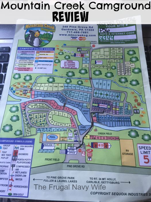Mountain Creek Campground Gardners, PA Review   Campground ...