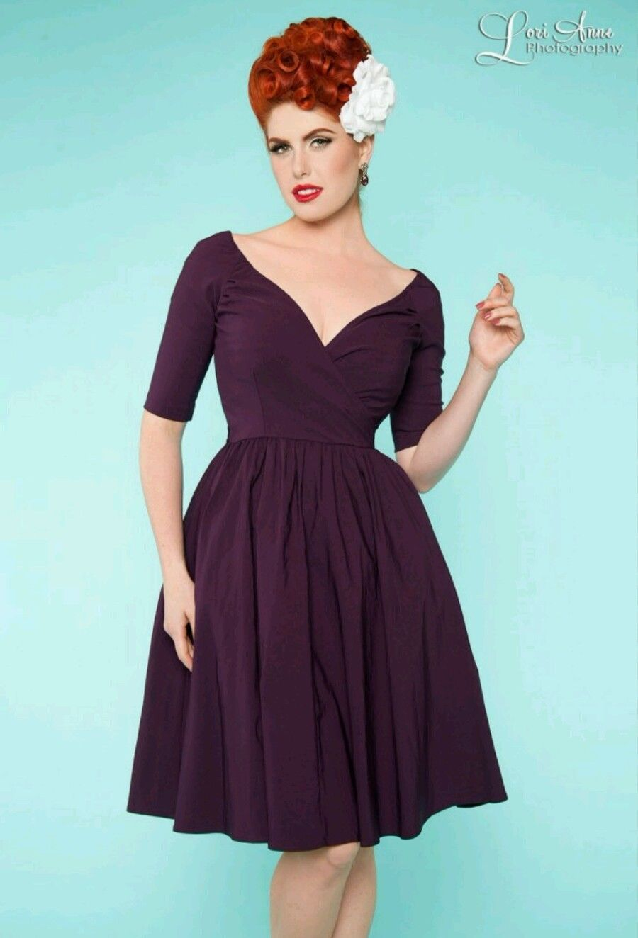 Loren Dress in Plum Pin Up Girl Clothing | eBay | Pin up <3 | Pinterest