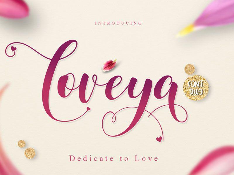 Free loveya script font fonts free and cricut