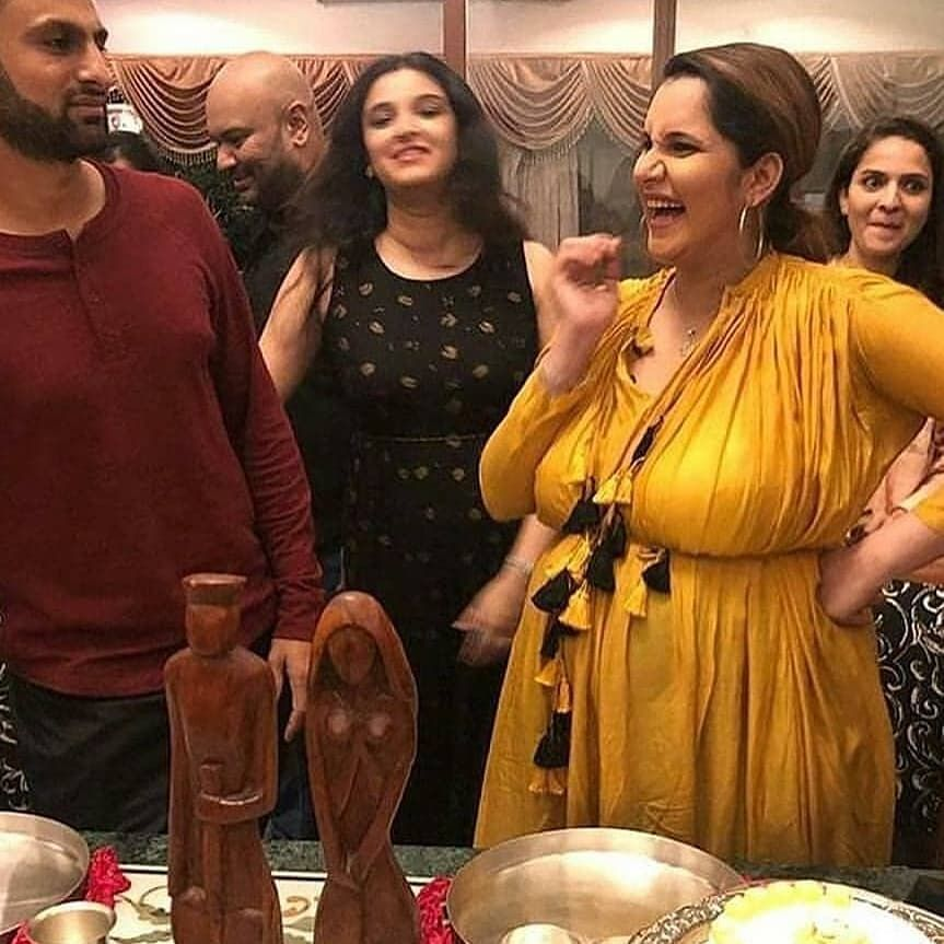 Sania Mirza Just Had A Fun Filled Baby Shower With Husband