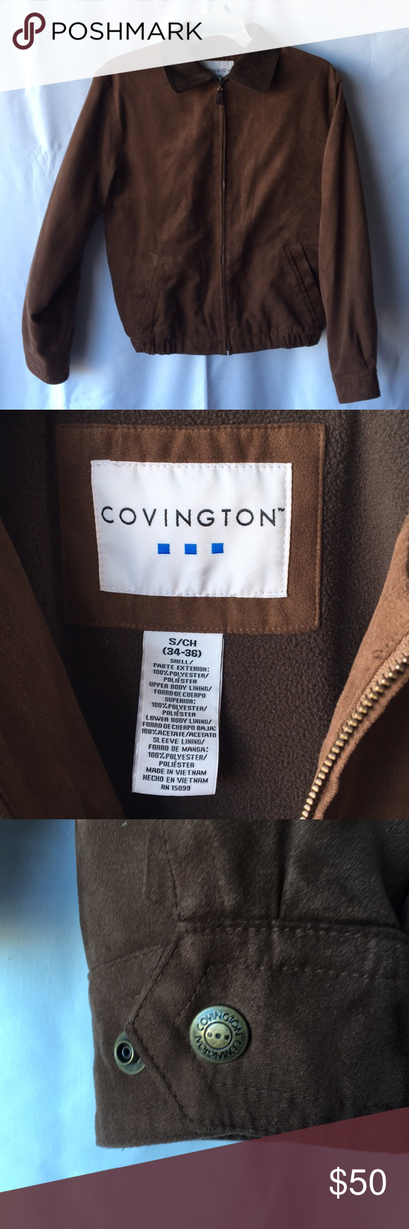 Covington Mens Suede Full Zip Winter Brown Jacket Condition In Good Conditions Measurement Body Size 22 Arm Le Winter Brown Jacket Brown Jacket Covington [ 1740 x 580 Pixel ]