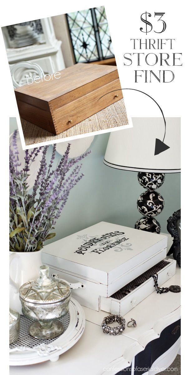 Turn an old flatware box into a jewelry box from confessionsofaser