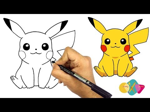 رسم البوكيمون بيكاتشو سهل تعليم الرسم للاطفال كيف ترسم بيكاتشو من لعبة بوكيمون جو Youtube Art Art Painting Drawings