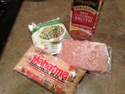 1lb Ground Beef Turkey Or Chicken 2cups Brown Rice Barley Or