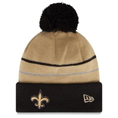 f29eedf1c46 ... mens new orleans saints new era black 2014 thanksgiving on field cuffed knit  hat